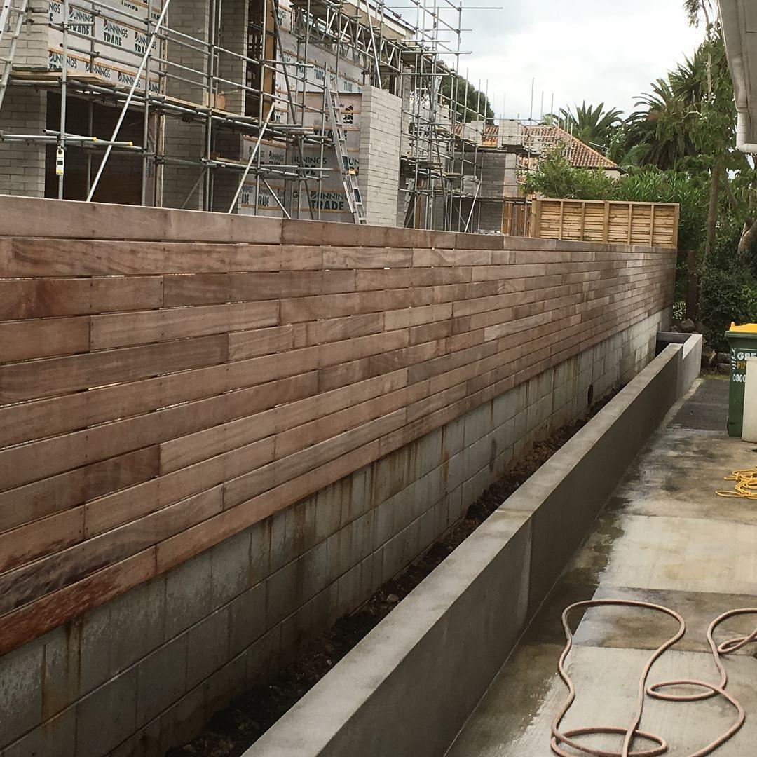 rendered garden bed walls