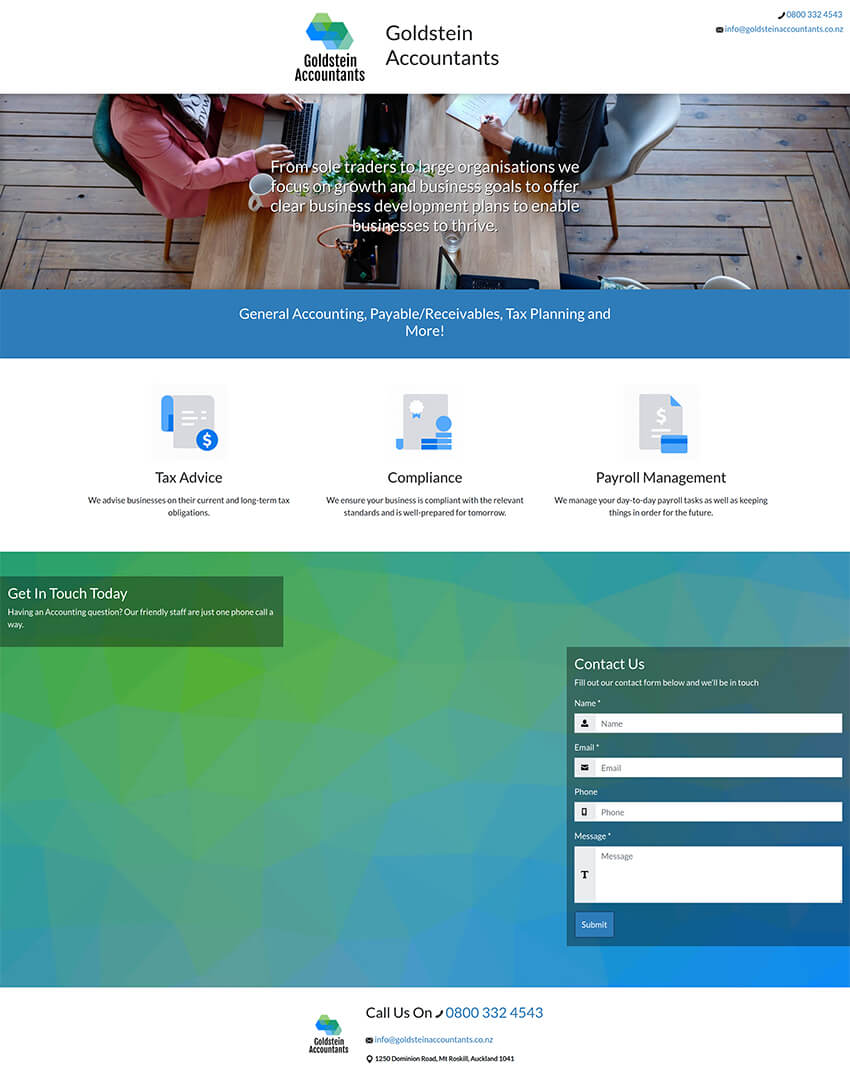 Quick and Easy dazzly website builder template