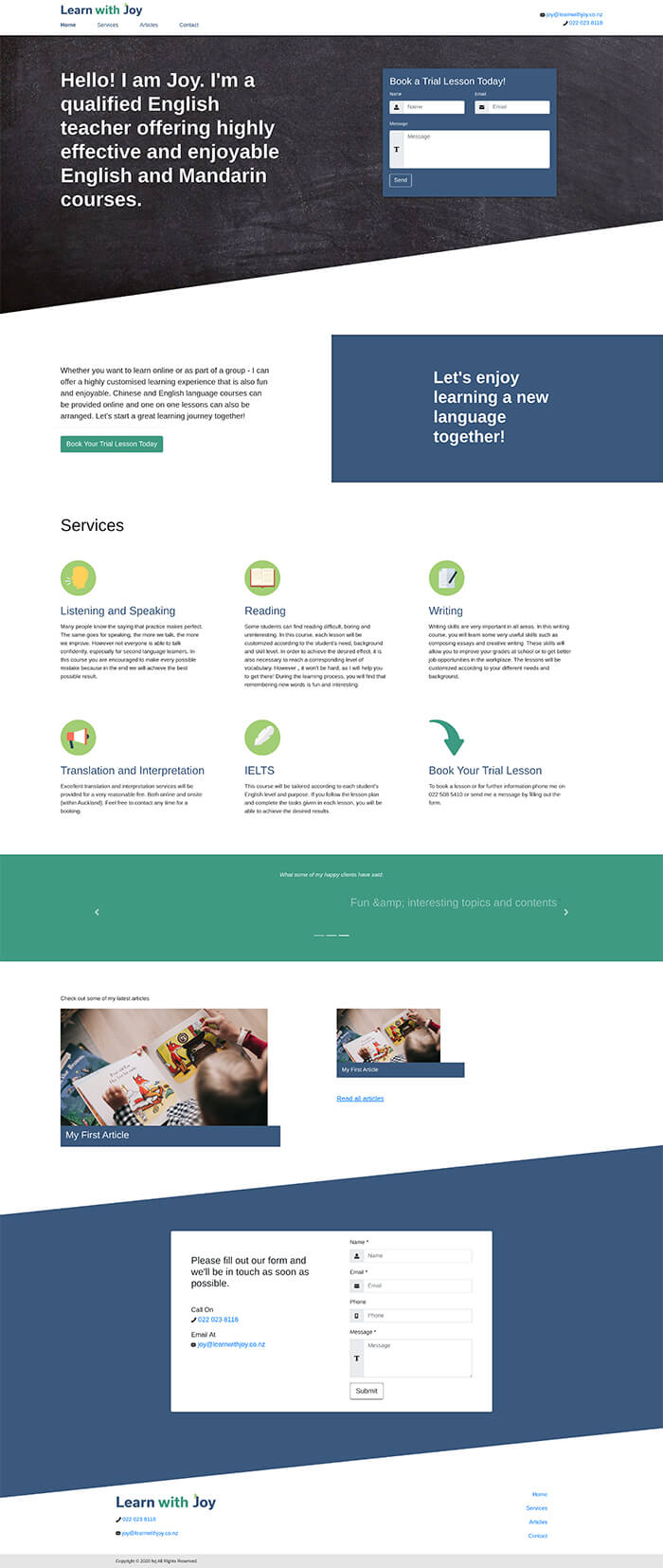 Simple Consultant 1 dazzly website builder template