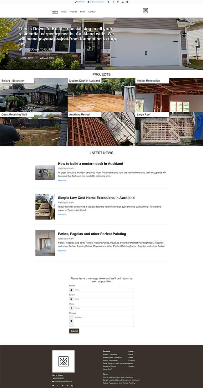 Project Portfolio 1 dazzly website builder template