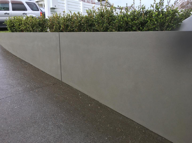 rendered block wall
